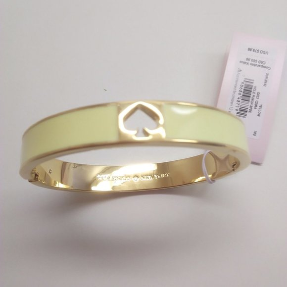 Kate Spade New Yellow Enamel Spade Bracelet